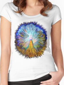 0024 Abstract Design Women's Fitted Scoop T-Shirt