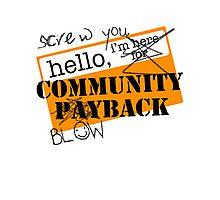 community BLOWBACK. Photographic Print