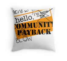 community BLOWBACK. Throw Pillow