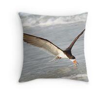 A Skimmer Skimming! Throw Pillow
