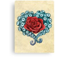 Octo Rose Love Canvas Print