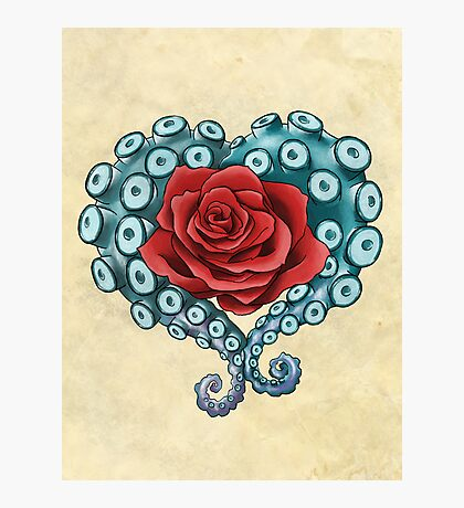 Octo Rose Love Photographic Print