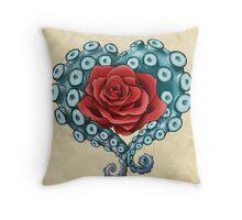 Octo Rose Love Throw Pillow