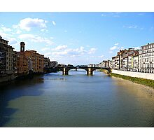 The River Arno From The Ponte Vecchio Photographic Print