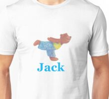 Jack with Grizzly Yoga Bear Unisex T-Shirt
