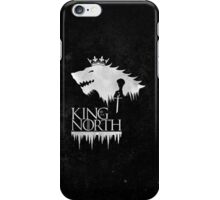 King of the North - white iPhone Case/Skin