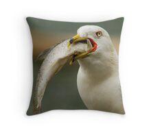 Hungry Bird Throw Pillow