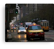 Early Morning Rush SF Canvas Print