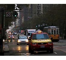 Early Morning Rush SF Photographic Print