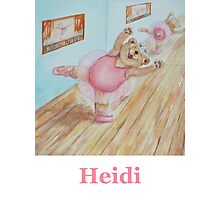 Heidi Ballet Bear Photographic Print