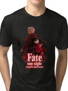 Fate stay night unlimited blade works Tri-blend T-Shirt
