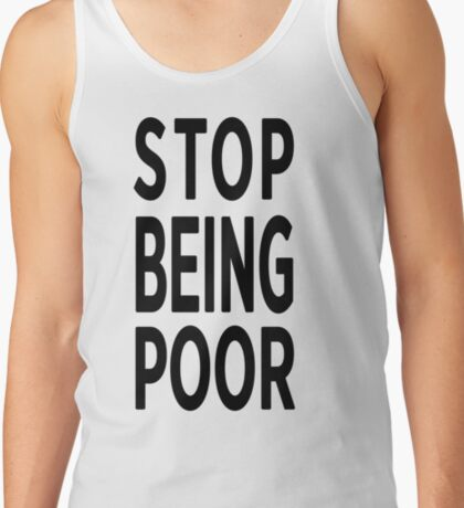 Paris Hilton 'Stop Being Poor' Art Tank Top