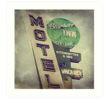 Bayshore Motel Art Print