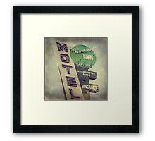 Bayshore Motel Framed Print