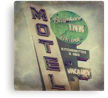 Bayshore Motel Canvas Print
