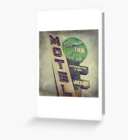 Bayshore Motel Greeting Card
