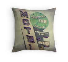 Bayshore Motel Throw Pillow