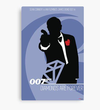 James Bond - Diamonds Are Forever Canvas Print