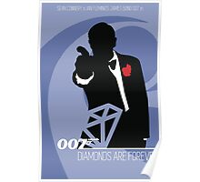 James Bond - Diamonds Are Forever Poster