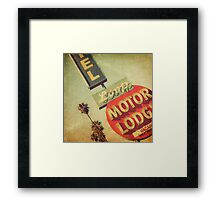 Loop Motel Framed Print