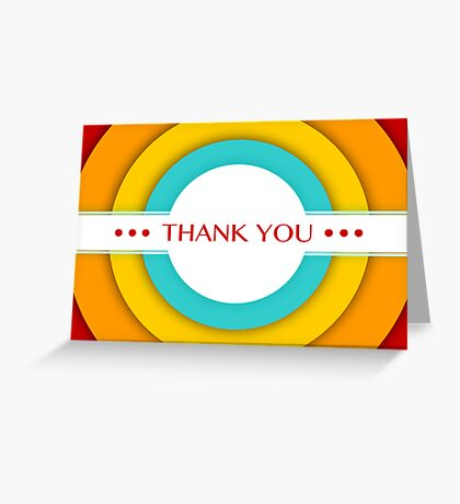 retro thank you Greeting Card