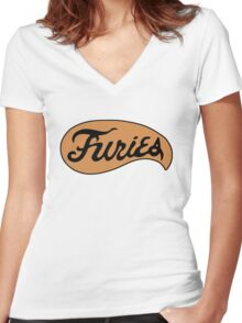 The Warriors - Furies Women's Fitted V-Neck T-Shirt