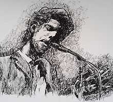 Tom Waits in Pen  by Katie  McNeice
