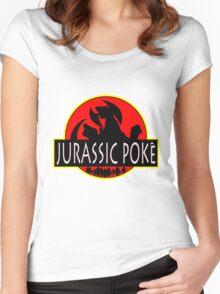 Jurassic Poke Women's Fitted Scoop T-Shirt