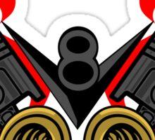 V8 Piston Heads Flying Eye Sticker