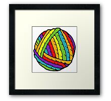 rainbow yarn Framed Print