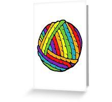 rainbow yarn Greeting Card