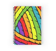 rainbow yarn Spiral Notebook