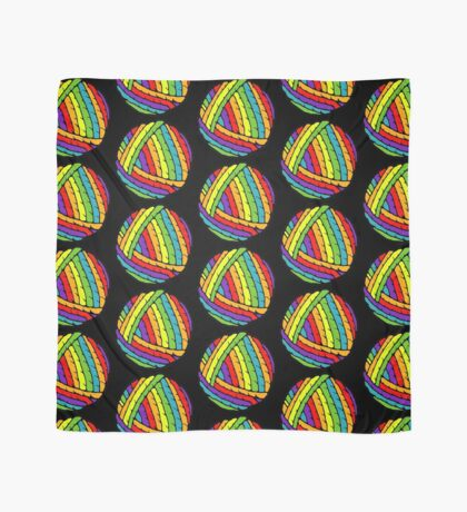 rainbow yarn Scarf