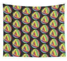 rainbow yarn Wall Tapestry