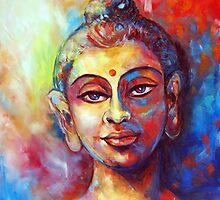 Enlightened Buddha by Anju Saran