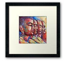 Buddha and the Followers Framed Print