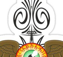 Flying Eyeball Pinstripe Sticker