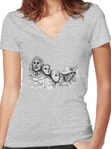 Mt. Slashmore Women's Fitted V-Neck T-Shirt