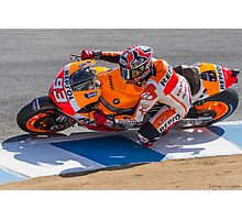 Marc Marquez at laguna seca 2013 Photographic Print