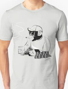 Chimp poker Unisex T-Shirt