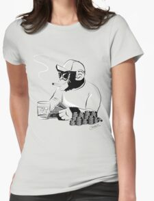 Chimp poker Womens Fitted T-Shirt