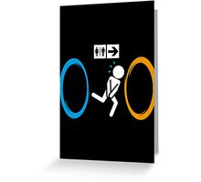 Portal Toilet Greeting Card