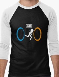 Portal Toilet Men's Baseball ¾ T-Shirt