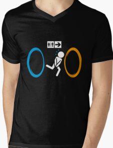 Portal Toilet Mens V-Neck T-Shirt