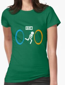 Portal Toilet Womens Fitted T-Shirt