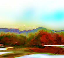 Autumn Lake by Alma Lee