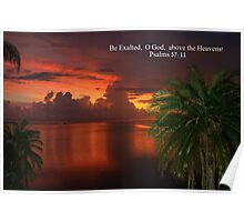 God's Painting in the Sky Poster