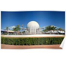 Spaceship Earth Landscape Poster