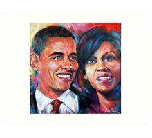 Barack and Michelle Obama Art Print