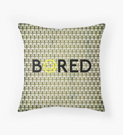 Bored. Throw Pillow